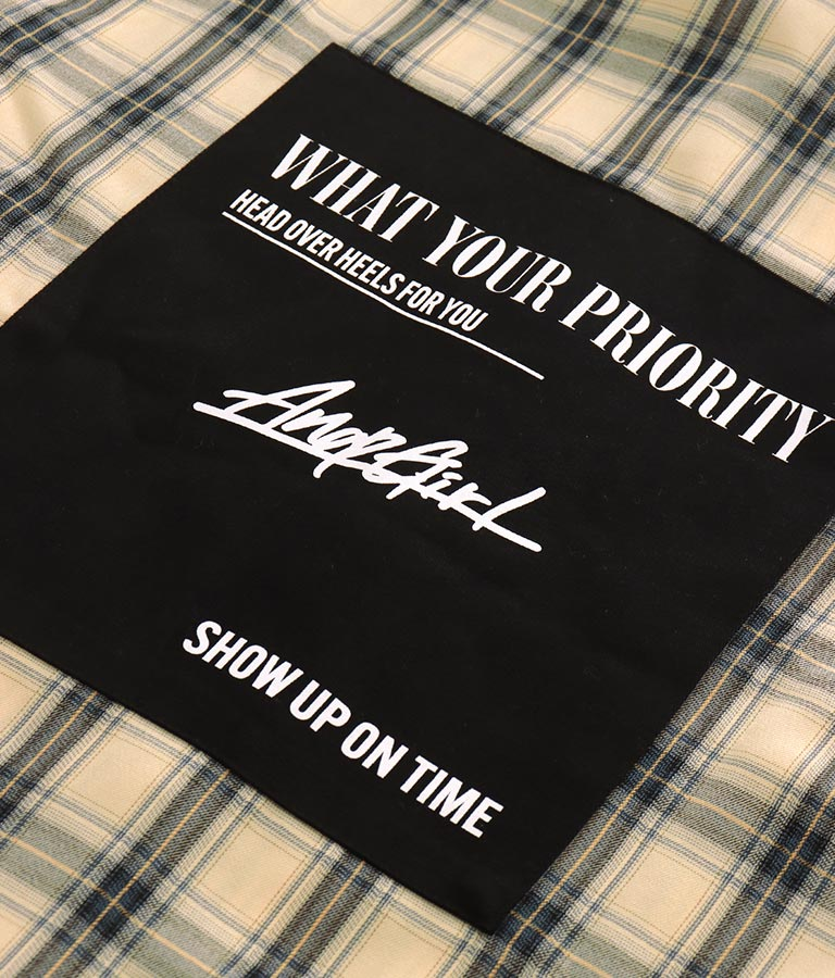 オーバーサイズフーディーチェックシャツ(トップス/シャツ・ブラウス) | ANAP GiRL