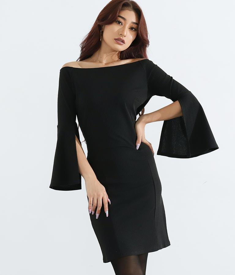 スリットスリーブリブワンピース(ワンピース・ドレス/ミディアムワンピ) | anap Latina