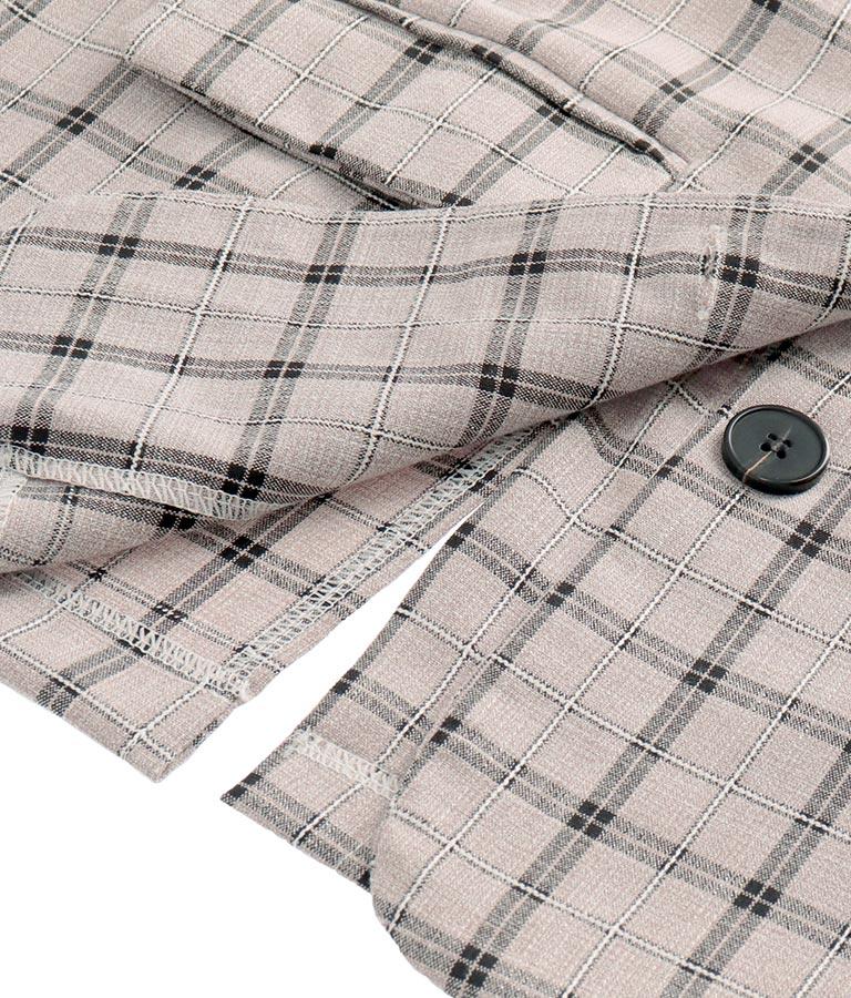 チェックセットアップジャケット&パンツ(ボトムス・パンツ /ロングパンツ・ジャケット・ブルゾン) | CHILLE