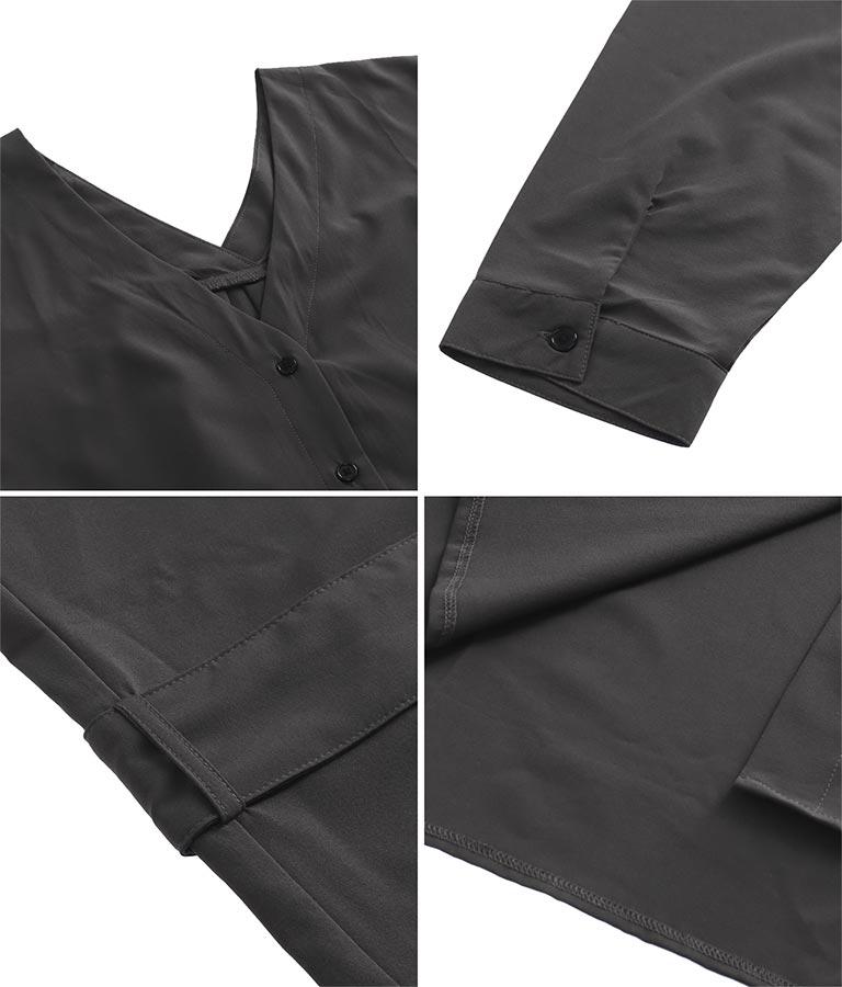 両Vネックルーズ2wayシャツワンピース(アウター(コート・ジャケット) /ロングワンピ・マキシ丈ワンピース・カーディガン) | anap Latina