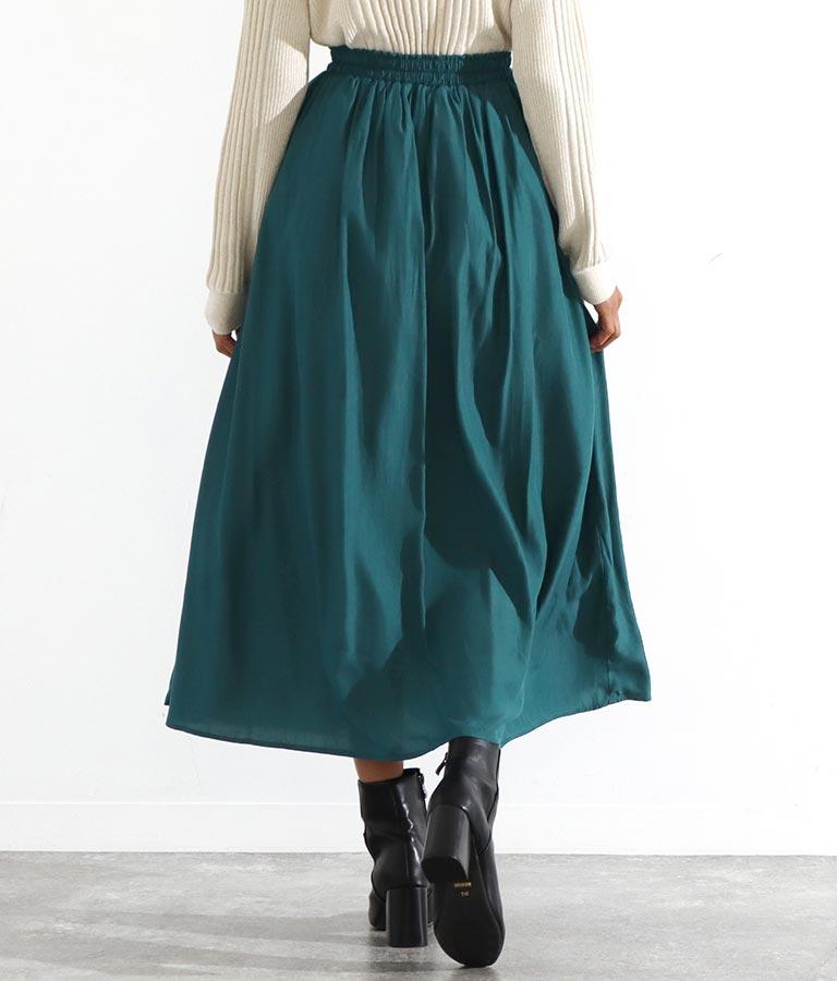 マットサテンギャザーフレアスカート(ボトムス・パンツ /スカート) | Settimissimo