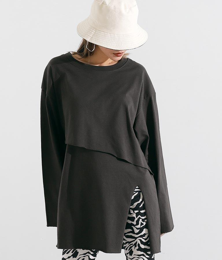レイヤードデザインロングTシャツ(トップス/Tシャツ)   Settimissimo