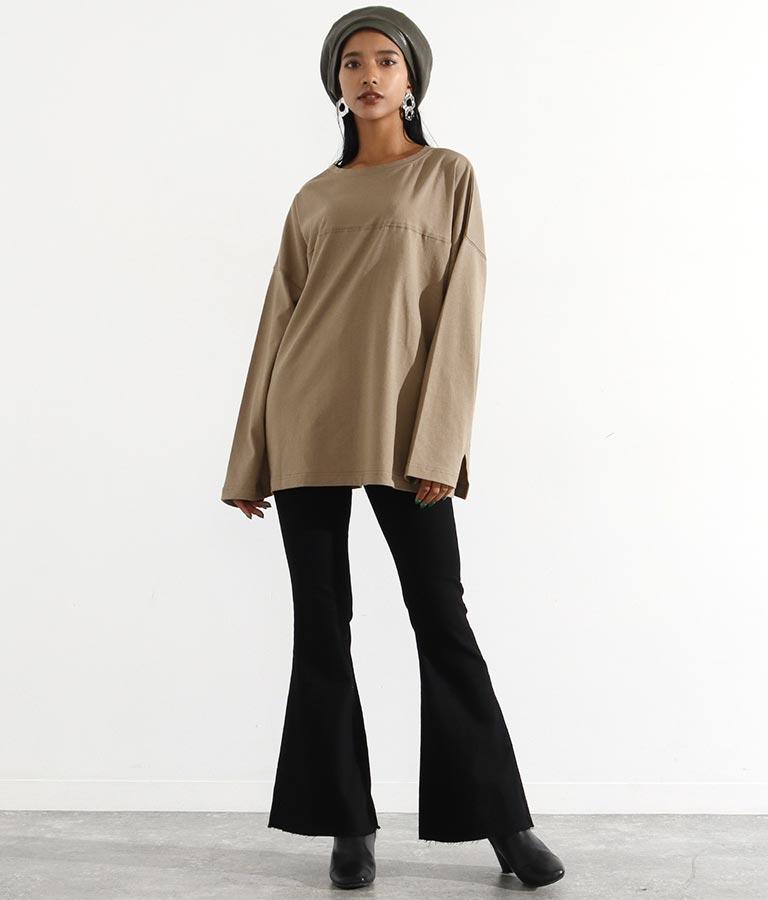 モノトーンプリント2WAYロングTシャツ(トップス/Tシャツ・ロングTシャツ) | Settimissimo
