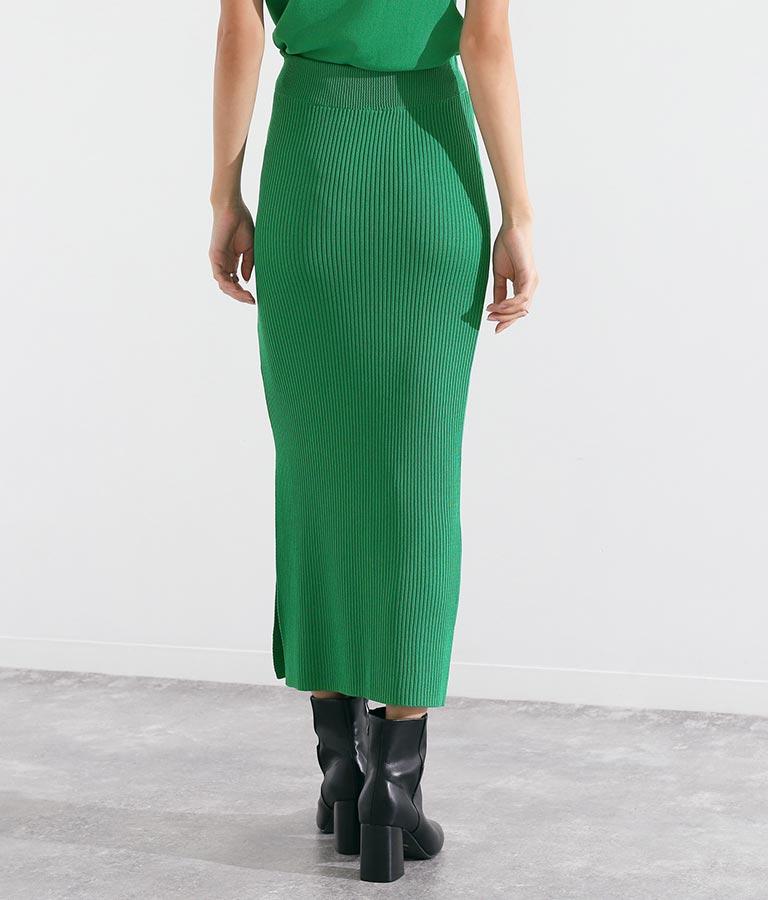 片側スリットリブニットロングスカート(ボトムス・パンツ /ニットスカート ・スカート) | Settimissimo